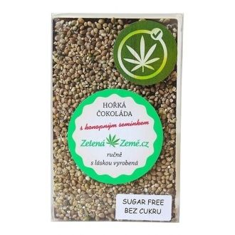 Sugar free Dark Chocolate with Hemp Seeds 100g