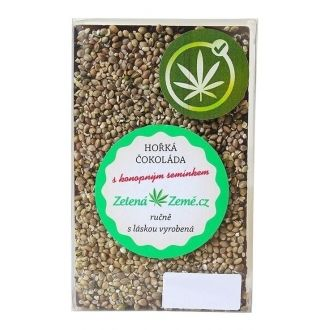 Dark Chocolate with Hemp Seeds 100g