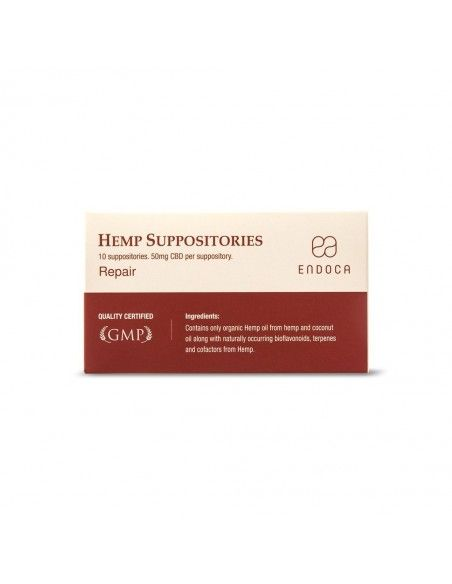 CBD Suppositories Total 500mg CBD (10x 50mg)