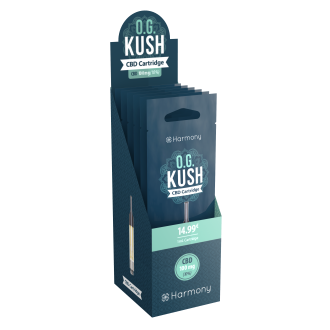 Harmony Vape Pen: OG Kush 10% (100mg) CBD Cartridge