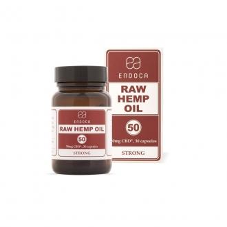 Capsules Raw Hemp Oil Total 1500mg CBD+CBDa