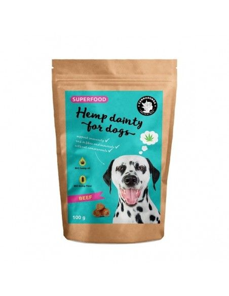 Hemp Beef Treats for Dogs 100g