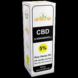 Hemp Oil Drops 500mg CBD (Cannabidiol) (5%) 10ml